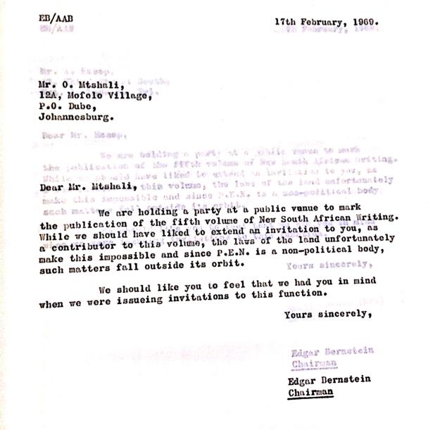 Bernstein letter